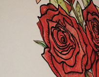 Roses with triangle shapes