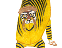 Costume of Japanese Featival. 火伏せの虎舞(Hifusenotoramai)