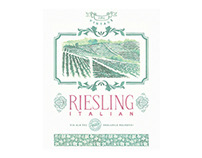 Italian Riesling Wine Label (hand painted)