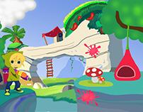 Virtual Paintball game concept art