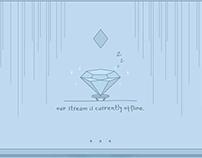 Blue Diamond Cute Aesthetic Twitch Overlay Design
