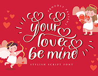 your love be mine script font, valentine, handwritten