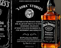 WHISKEY-INSPIRED 40TH BIRTHDAY BASH INVITATION