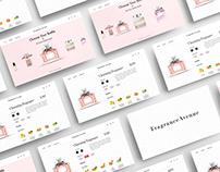 FragranceAvenue Webshop UI/UX Design