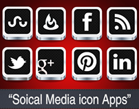 Download PSD: Social Media Icon Apps.
