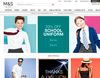 M&S Back to School campaign