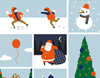 Xmas illustration 圣诞节插画