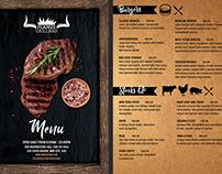 Grill Restaurant Menu Flyer template