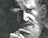 Stipple Portrait — George Bernard Shaw