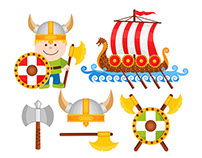 Little Viking Vector Set