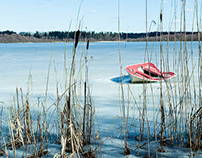 Boat on ice