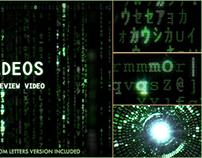 Matrix letters and symbols code