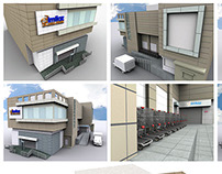 3d Exterior Office Buildings & Shopping Malls
