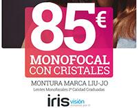 Campaña publicitaria ópticas IrisVision