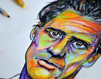 Colourful JIM CARREY Portrait