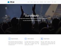 Our History Page - Peak WordPress Theme