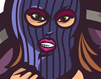 'Crime and Coffee' illustration/Logo