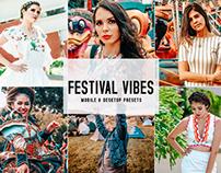 Free Festival Vibes Mobile & Desktop Lightroom Presets