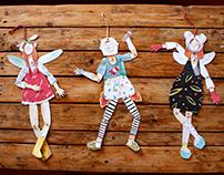 Muñecas articuladas.