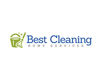 Best Cleaning Home Services Logo Design