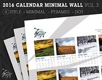 2016 Calendar Minimal Poster Wall Vol.1