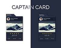 Social Media Card UI Design