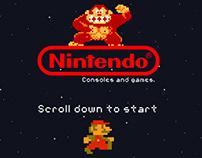 Nintendo Parallax Scrolling Website