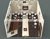 "Exhibition kiosk concept for ""CAFE Mokito"" company"