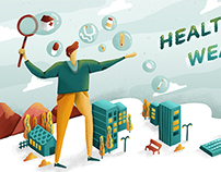 Health is Wealth | Illustration for Forbes Indonesia
