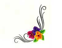 Subtly Elaborate Flower Border Machine Embroidery Desig