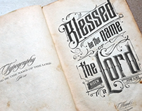 Blessed be the name of the Lord | Typography