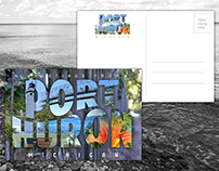 Postcard Designs and Photography for Port Huron, MI