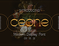 Ceone - Modern Display Font