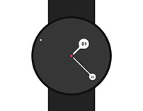 Smart Watch time UI design