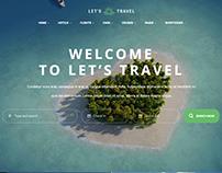 Let's Travel - Responsive Travel Booking Site WordPress