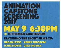 PhilaU Animation Capstone Show Branding