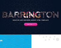 Barrington Creative Full Screen Template
