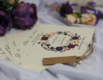 Floral Wrath Wedding Invitation Card