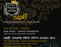 Frank White Cafe Pop Up Shop Invite