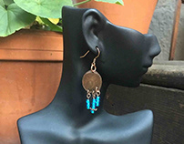Sledgehammer Earrings Made with Canadian Pennies