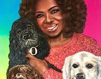 """""""Oprah Winfrey and her beloved ones""""."""