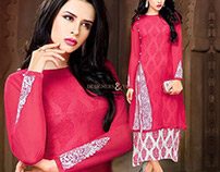 Latest Designer Embroidered Front Slit Cut Party Wear