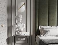 Simple neoclassic bedroom