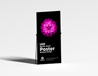 Free LED Banner Stand Poster Mockup