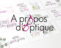 RE-BRANDING | A Propos d'Optique - Opticien