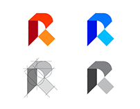 R logo type construction