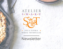 Newsletter made for Atelier Smaku