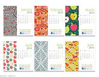 Apple Print & Creative Calendar 2014