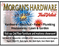 Ad for Morgan's hardware for print - Illustrator