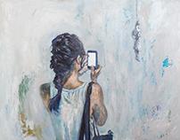 """""""News"""", oil on canvas"""